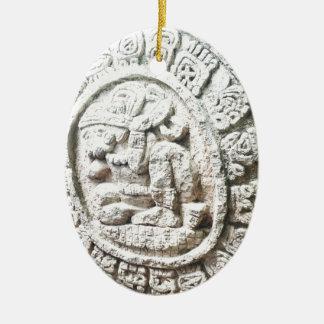 Mayakalender Ovales Keramik Ornament