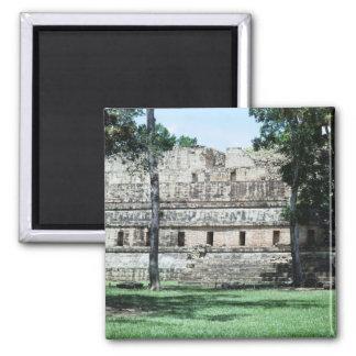 Mayaruine-Honduras-FarbKühlschrank Quadratischer Magnet