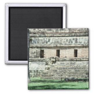 Mayaruine-Honduras-Foto entwarf Kühlschrank Quadratischer Magnet
