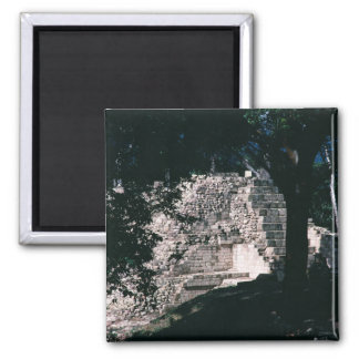 Mayaruinen Copan Stadt-Honduras-Foto entworfen Quadratischer Magnet