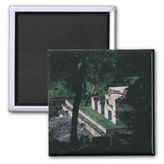 Mayastadt von Copan N.W. Honduras Foto entworfen Quadratischer Magnet