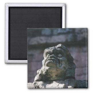 Mayastein geschnitzter Statue-Block Copan Honduras Quadratischer Magnet