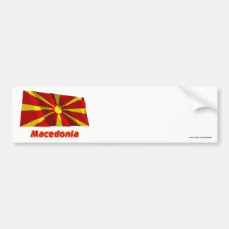 Mazedonien, das Flagge mit Namen wellenartig Autoaufkleber