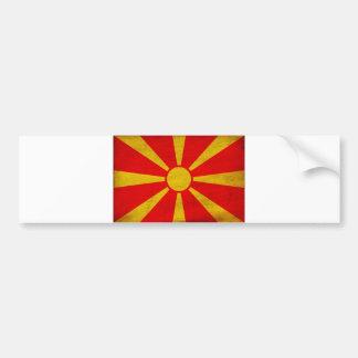 Mazedonien-Flagge Autoaufkleber