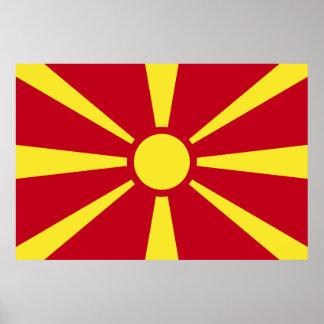 Mazedonien-Flagge Poster
