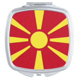 Mazedonien-Flagge Taschenspiegel