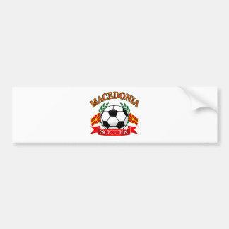 Mazedonien-Fußballentwürfe Autoaufkleber