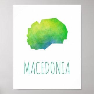Mazedonien-Karte Poster