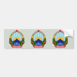 Mazedonien-Wappen Detail Autoaufkleber