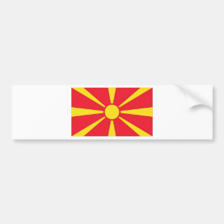 Mazedonische Flagge Autoaufkleber