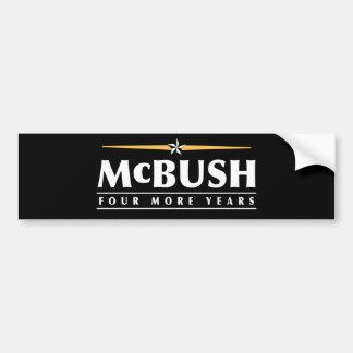 McBush, vier weitere Jahre! Autoaufkleber