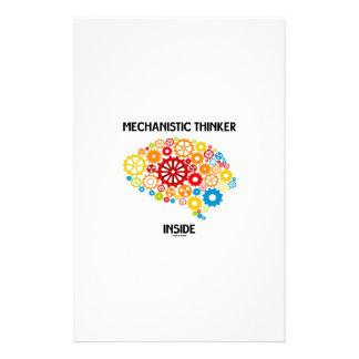 Mechanistisches Denker-Innere (Gehirn-Gänge) Büropapiere