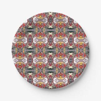 Medici arbeitet Reflexions-bunte abstrakte Platte Pappteller