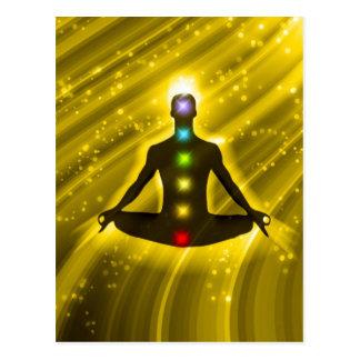 Meditation Chakras Postkarte
