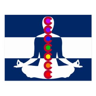 Meditations-Geschäft Colorados Chakra Postkarte