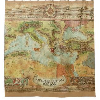 mediterranion Region Duschvorhang