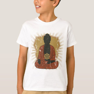 Meditierendes Dharma Rad Buddhas T-Shirt