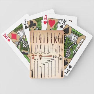 Medizinische Instrument-Vintages Kartenstapeles Spielkarten