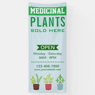 Medizinischer Pflanzen-Speicher Banner