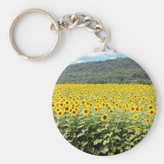 Meer der Sonnenblumen Schlüsselanhänger