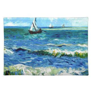 Meerblick bei Saintes-Maries, Vincent van Gogh Stofftischset