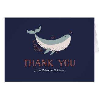 Meeresflora und -fauna danken Ihnen zu kardieren Mitteilungskarte