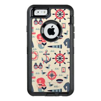 Meeresflora und -fauna-Muster OtterBox iPhone 6/6s Hülle