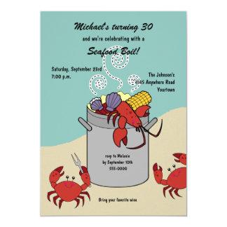 Meeresfrüchte-Blutgeschwür-Geburtstags-Einladung 12,7 X 17,8 Cm Einladungskarte