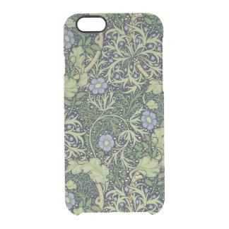 Meerespflanze-Tapeten-Entwurf, gedruckt durch Durchsichtige iPhone 6/6S Hülle