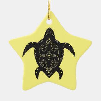 Meeresschildkröte-Bauch Keramik Stern-Ornament