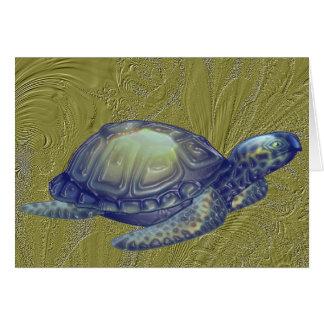 Meeresschildkröte des Golfs Karte
