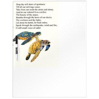 Meeresschildkröte-Friedensgebets-Gedicht-trockenes Trockenlöschtafel