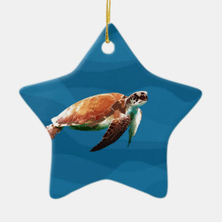 Meeresschildkröte Keramik Stern-Ornament