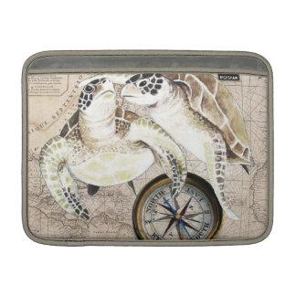 Meeresschildkröte-Kompass-Karte MacBook Air Sleeve