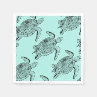 Meeresschildkröte Lineart Entwurf Papierservietten