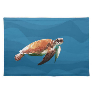 Meeresschildkröte Stofftischset