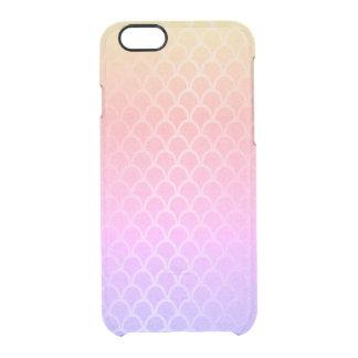 Meerjungfrau-bewegt rosa lila Goldgelb Ombre Durchsichtige iPhone 6/6S Hülle