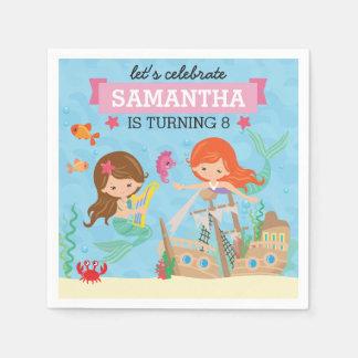 Meerjungfrau-Geburtstags-Party Papierserviette