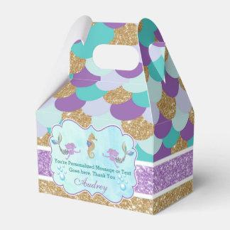 Meerjungfrau-Geburtstags-Party-personalisierter Geschenkschachtel