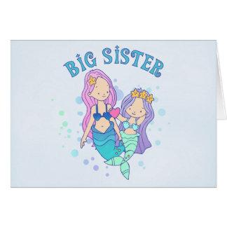 Meerjungfrau-große Schwester Karte