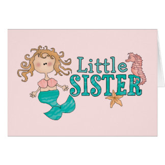 Meerjungfrau-kleine Schwester Karte