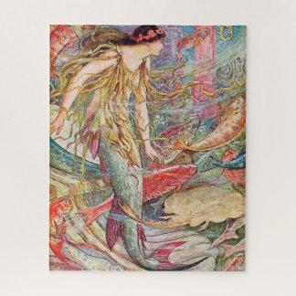 Meerjungfrau-Königin der Fische Puzzle