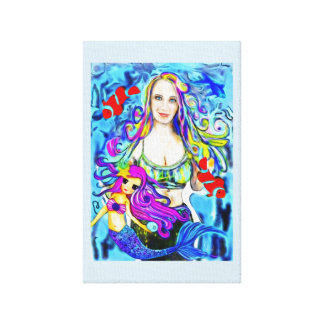 Meerjungfrau-Malerei, Porträt, schöne Leinwanddruck