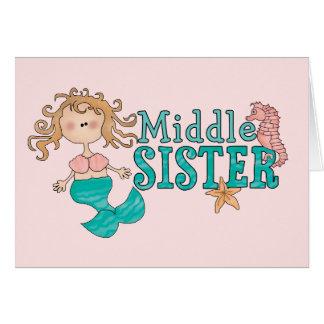 Meerjungfrau-Mitte-Schwester Karte