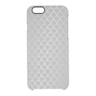 Meerjungfrau-silbernes Grau-Graphitminimales Durchsichtige iPhone 6/6S Hülle