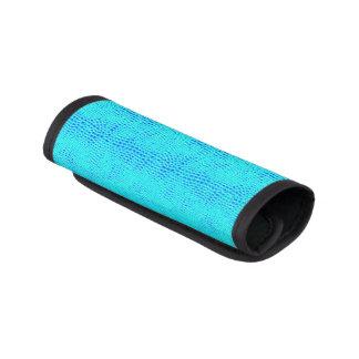 Meerjungfrau-Skala-blaues veganes Neonleder Gepäck Markierung