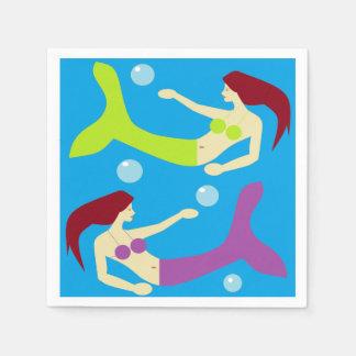 Meerjungfrauen Papierservietten