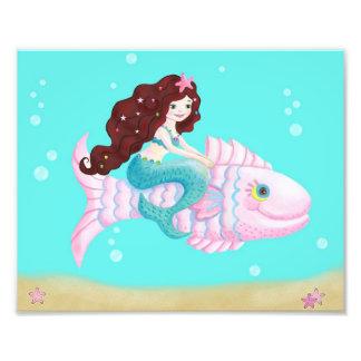 Meerjungfraukunstdruck für Kinder Fotografien