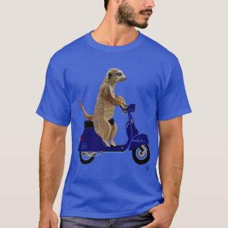 Meerkat auf dunkelblauem Moped T-Shirt