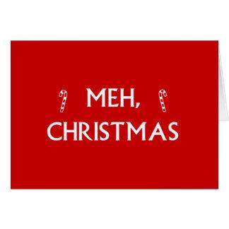 Meh Weihnachten Karte